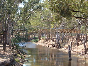 Charlton, Victoria - New footbridge over the Avoca River in the centre of Charlton