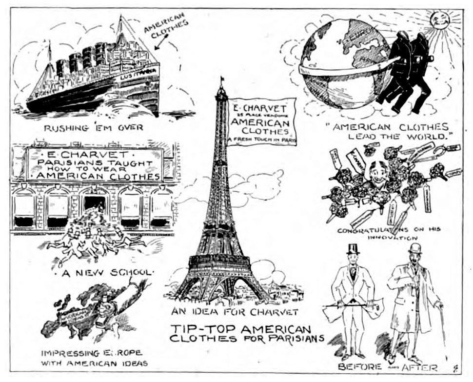 Charvet Mens wear cartoon 1908