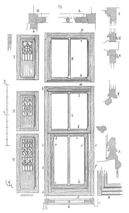 Dictionnaire raisonn de l architecture fran aise du xie for Chassis de fenetre