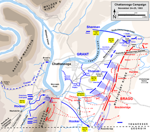 Battle of Missionary Ridge - Image: Chattanooga Campaign Nov 24 25