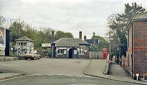 Chesham tube station - Station approach
