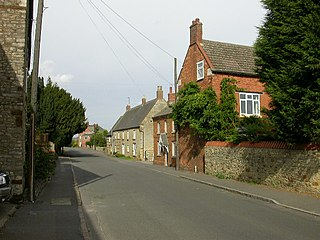 Irchester Village in Northamptonshire, England