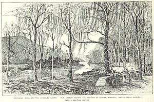 Battle of Chickasaw Bayou - The Chickasaw bluffs as seen from General M. L. Smith's position