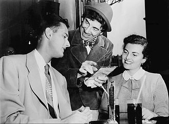 Chico Marx - Chico was the star of a 1950 ABC television comedy, The College Bowl.  He played the role of a campus malt shop owner who dispensed both sodas and advice to the students.