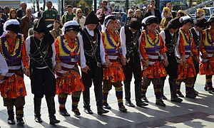 TRT International April 23 Children's Festival - Folk dance of Turkey on Children's Day 2014 in Beykoz, Istanbul