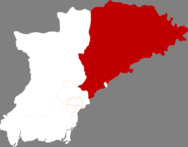 Location in Dandong City