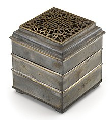photograph of a Chines incense clock