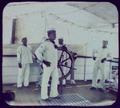 Chinese sailors on bridge of ship LCCN2004707916.tif