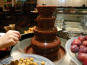 English: A chocolate fountain in Hong Kong