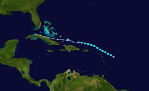 Tropical Storm Chris (2006) - Image: Chris 2006 track