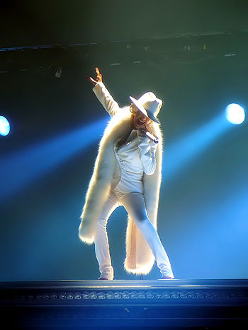 Christina Aguilera during a concert from her B...