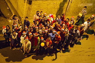 Christmas carol - Christmas carol group at Bangalore, India