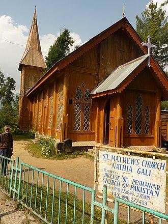 Nathia Gali - Image: Church near Murree