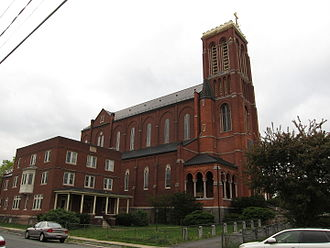 Watervliet, New York - St. Patrick Church as it appeared in 2012.