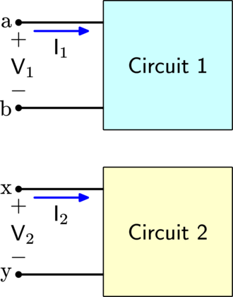 Network analysis (electrical circuits) - Image: Circuit equivalence