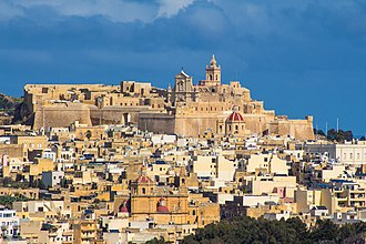 Cittadella (Gozo) - View of the Cittadella from the south