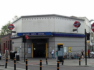 Clapham North tube station - The station entrance