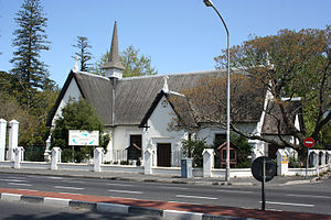 Claremont, Cape Town - Claremont Congregational Church (founded in 1840, the present building dating from 1877) in 2010