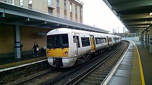 British Rail Class 376 - Image: Class 376 at Woolwich Arsenal