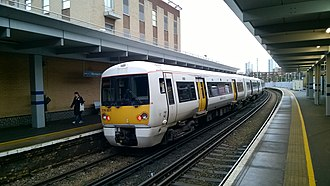 British Rail Class 376 - Image: Class 376 at Woolwich Arsenal