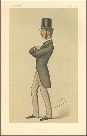 "Lord Claud Hamilton (1843–1925) - ""Bridegroom"". Caricature by Spy published in Vanity Fair in 1878."