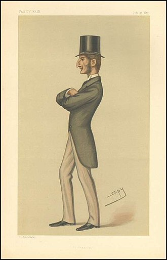 """Lord Claud Hamilton (1843–1925) - """"Bridegroom"""". Caricature by Spy published in Vanity Fair in 1878."""