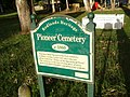 Cleveland Pioneer Cemetery, sign, 2006.JPG