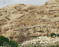 Greek Orthodox monastery overlooking modern Jericho.