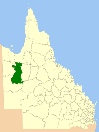 Shire of Cloncurry - Location within Queensland
