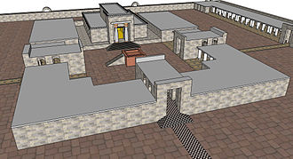 Josiah - Closer view of the inner court and House of the Temple of Solomon as depicted in a 3-D computer model