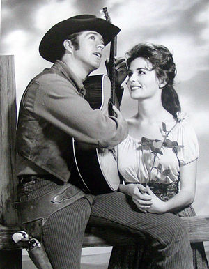 Clu Gulager - Gulager as Billy the Kid with Marianna Hill as his sweetheart, Rita from the television program The Tall Man.
