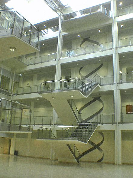 "The foyer of the multimillion-dollar Chemical and Molecular Sciences building, featuring the ""double helix staircase"" Cmssciences.jpg"