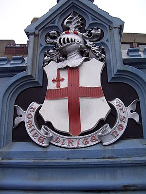 Coat of arms of the City of London - Image: Coat of Arms of the City of London on Tower Bridge geograph.org.uk 1104950