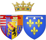 Description de l'image Coat of arms of Élisabeth (Isabelle) d'Orléans as Duchess of Guise.png.