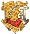 Coat of arms of the Austro-Hungarian province of Bosnia 1890.png