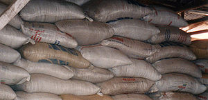 Bag - Jute bags (gunny sacks) of coffee