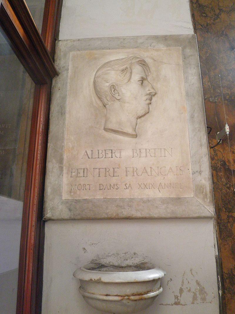 Colonna - s Andrea delle Fratte tomba albert bertin peintre francais O9250037.JPG