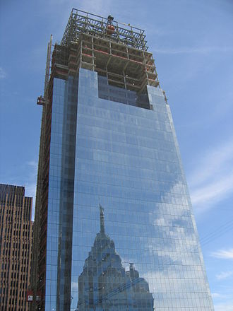 Comcast Center - Comcast Center under construction, 2007