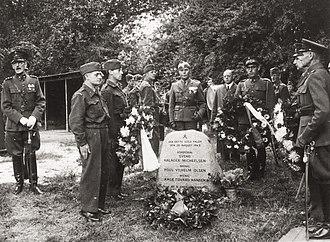 Operation Safari - Commemoration at Ballonparken, 29 August 1946