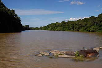 Comoé National Park - The Comoe River flowing through the park