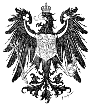 Fig. 445.—Arms of the Prussian Province of Brandenburg. (From Ströhl's Deutsche Wappenrolle.)