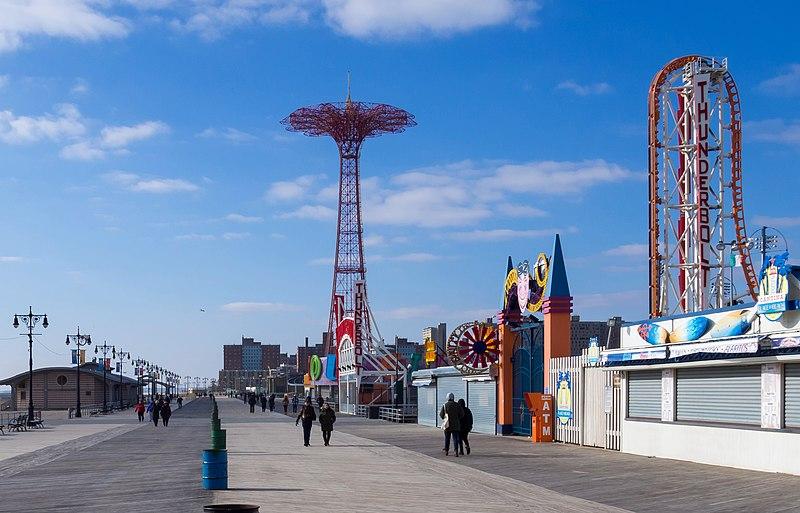 File:Coney Island Boardwalk 1 crop.jpg