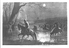 Conferderate army crossing the Potomac River during the invasion of Maryland.jpg