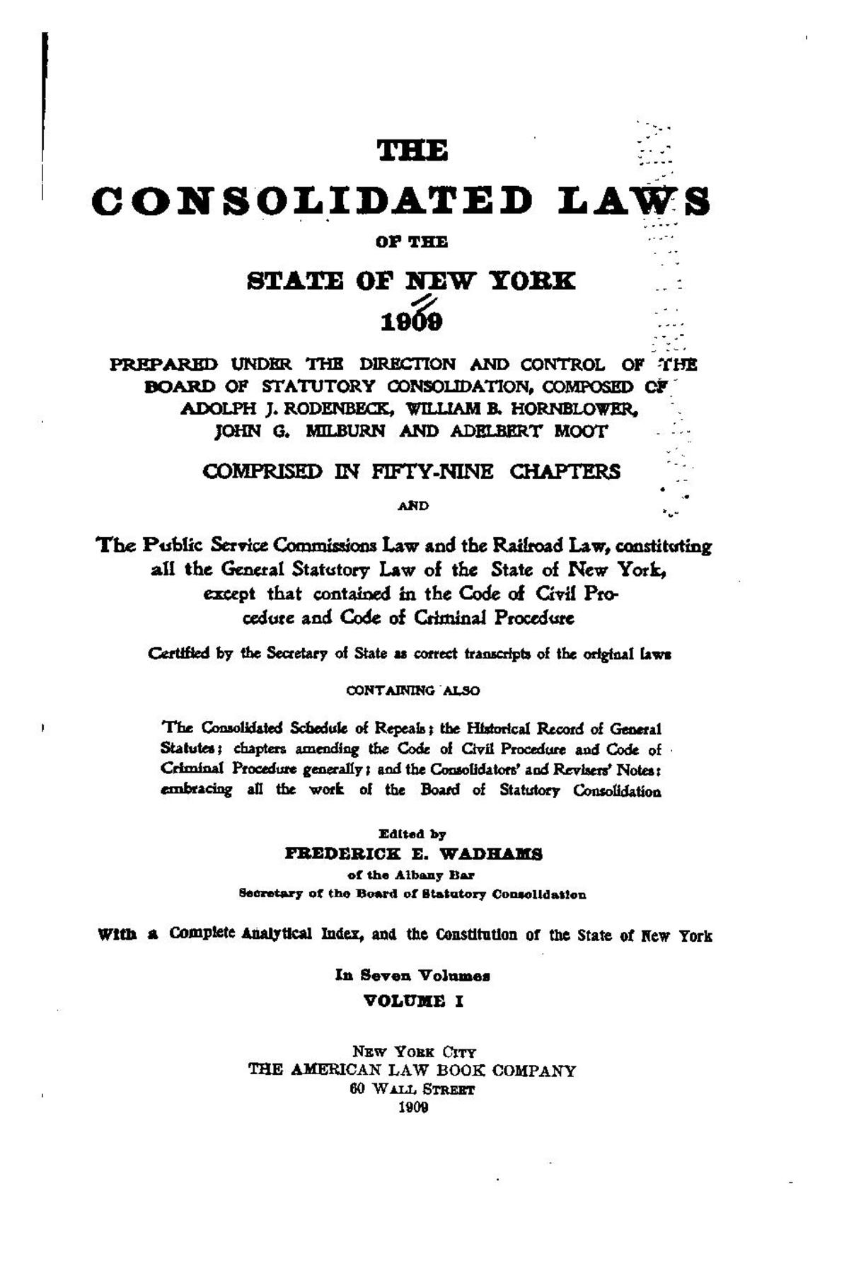 Consolidated Laws of New York - Wikipedia