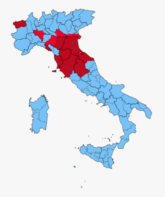 Italian general election, 1946 - Image: Constituent Assembly Italy, 1946 Province