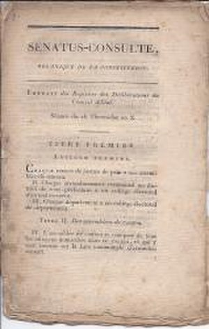 Constitution of the Year X - Constitution of the Year X (1802)