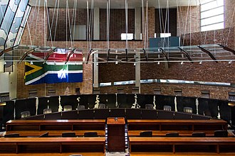 Constitutional Court of South Africa - The courtroom of the Constitutional Court of South Africa