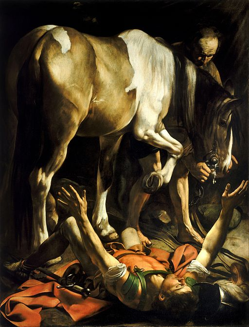 Conversion on the Way to Damascus-Caravaggio (c.1600-1)