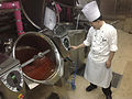 Cooking red beans in the steam-jacketed kombi kettle.jpg