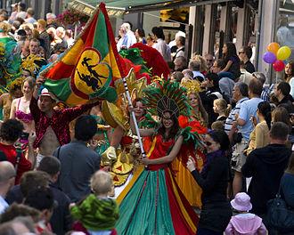 Copenhagen Carnival - Dancers at Copenhagen Carnival 2009